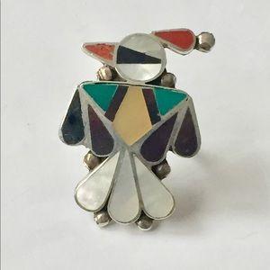 Vintage Thunderbird ring sterling silver 925